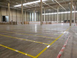 Hallenmarkierung für die Reimer Logistics GmbH & Co. KG in Malsfeld