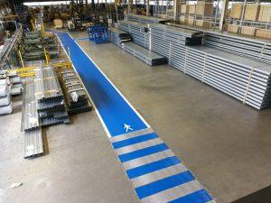 Hallenmarkierung für die Dexion GmbH in Laubach