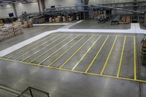 Hallenmarkierungen bei dem zweitgrößten Befestigungstechnik-Hersteller Keller & Kalmbach in Hilpoltstein (Bayern) – von nun an auf dem sicheren Weg