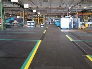 Hallenmarkierung für die Pacoma GmbH in Eschwege