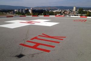 Hubschrauberlandeplatz-Markierung Krankenhaus Bad Homburg