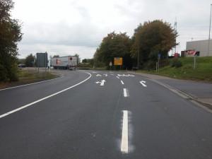 Straßenmarkierung für die Gemeinde Eichenzell