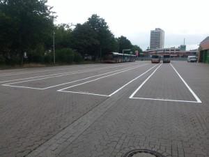 Bus-Parkplatzmarkierung Frima üstra in Hannover