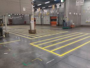 Hallenmarkierung für die Deutsche Post AG in Kassel & Niederaula