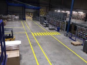 Hallenmarkierung für die Libri GmbH in Bad Hersfeld