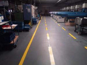 Hallen- und Sicherheitsmarkierung bei der Gersfelder Metallwaren GmbH