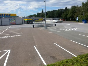 Parkplatzmarkierung E-Center in Herford