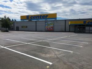 Parkplatzmarkierung E-Center in Herford