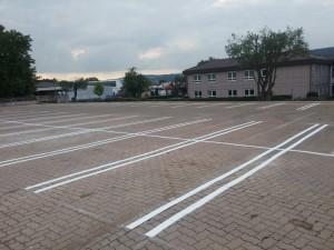 Parkplatzmarkierung für Tedox in Holzminden
