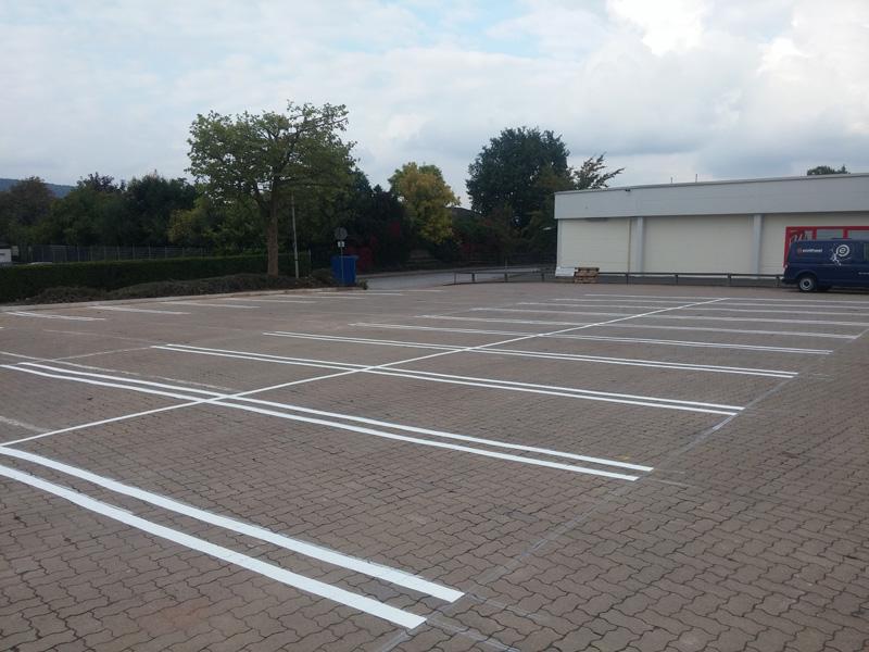 Breite Parkplatz