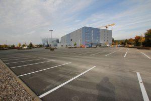 Parkplatzmarkierung für die medi GmbH & Co. KG in Bayreuth