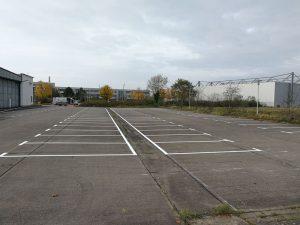 Parkplatzmarkierung für Luftfahrt-Bundesamt in Braunschweig
