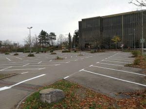 Parkplatzmarkierung für die E-C-G Facility Management GmbH in Böblingen
