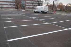 Parkplatzmarkierung Bundeswehr Hannover