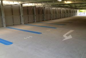 Parkhausmarkierung Firma Goldbeck Nordost in Ludwigsfelde