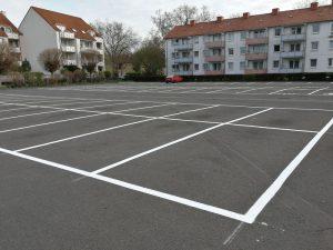 Parkplatzmarkierung für Volksheimstätte eG in Göttingen