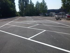 Parkplatzmarkierung Firma Benteler Maschinenbau in Bielefeld