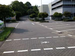 Parkplatzmarkierung für Knauber Markt in Bergisch Gladbach