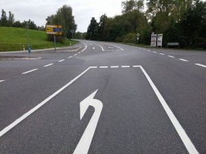 Straßenmarkierung in Homberg Efze
