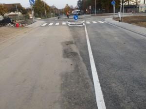 Straßenmarkierung – Kreisel und 30er-Zone in Lich