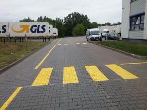 Werksmarkierung bei GLS in Laatzen / Hannover