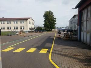 Werksmarkierung Firma Terex in Crailsheim