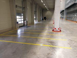 Hallen- und Hofmarkierung für Spedition Greiwing in Duisburg