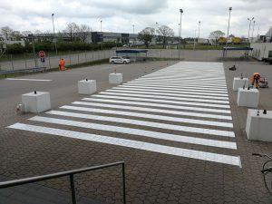 Werksmarkierung für Hermes Nord-HUB Verteilzentrum in Langenhagen